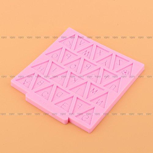 Yosoo Letter Flag Bunting Silicone Fondant Mold Cake Decorating Chocolate Mould Baking