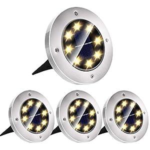 Luci Solari Da Esterno, Luce Solare Giardino IP65 Impermeabile, ON/OFF Auto, Luci da Terra Solari LED Lampada per… 41RI1eJYXXL. SS300