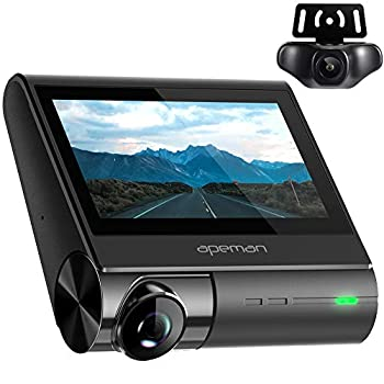 Image of APEMAN 4K max Dash Cam with OLED Touch Screen, Built-in GPS, Wi-Fi, Both 1080P Front and Rear Dual Dash Camera for Cars with Sony Sensor, Parking Mode, Motion Detection, G-Sensor On-Dash Cameras