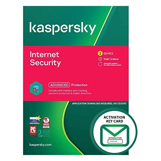 Kaspersky Internet Security 2021 | 1 Device | 1 Year | PC/Mac/Android | Activation Key Card by Post with Antivirus…