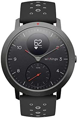 Withings Steel HR Sport Hybrid Smartwatch (40mm) - Activity, Sleep, Fitness and Heart Rate Tracker with Connected GPS, Smart Notifications, Water Resistant with 25-day battery lifestyles