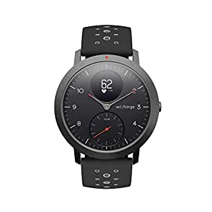 Withings Steel HR Sport Smartwatch (40mm) Activity Tracker, Heart Rate Monitor, Sleep Monitor, GPS, Water Resistant Smart Watch