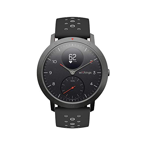 Withings Steel HR Sport Hybrid Smartwatch (40mm) - Activity, Sleep, Fitness and Heart Rate Tracker with Connected GPS, Smart Notifications, Water Resistant with 25-Day Battery Life