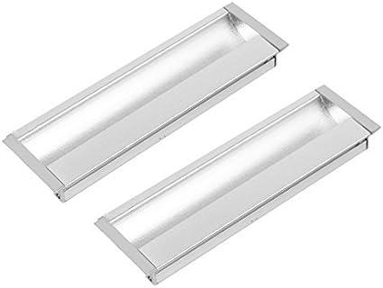 DealMux 96mm Montaje Distancia uñeros del gabinete del cajón deslizante manija de la puerta 2 piezas: Amazon.es: Bricolaje y herramientas