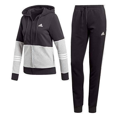 Donna Tuta Nero Woven Grey Tracksuits bianco medium Adidas Energize Cotton Heather Iqw1axxX