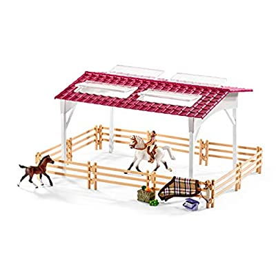 Schleich Horse Club Riding Center with Rider and Horses 44-piece Educational Playset for Kids Ages 5-12: Schleich: Toys & Games