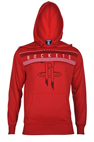 fan products of NBA Men's Houston Rockets Fleece Hoodie Pullover Sweatshirt Poly Midtown, X-Large, Red
