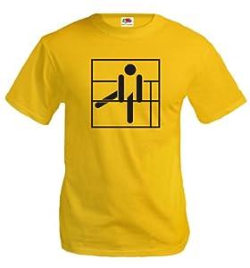 T-Shirt Stufenbarren-Piktogramm-XXL-Sunflower-Black