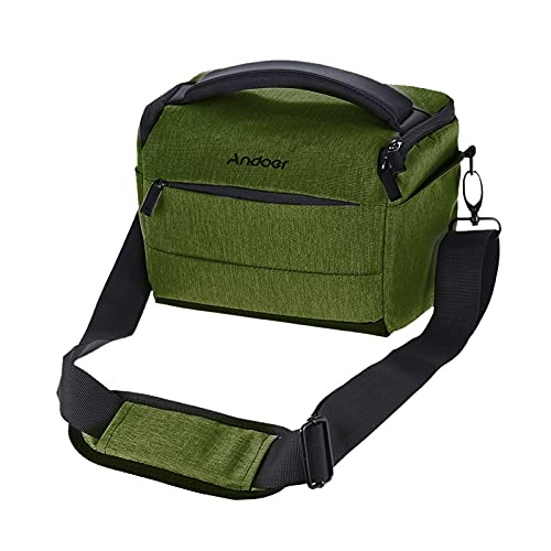 Cuboid-Shaped DSLR Camera Shoulder Bag Portable Fashion Polyester Camera Case for 1 Camera 2 Lenses and Small Accessories for Canon Nikon Sony FujiFilm Olympus Panasonic