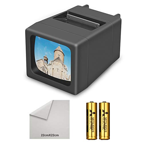 LED Lighted Illuminated 35mm Slide Viewer(2AA Batteries Included) (Slide Projector)