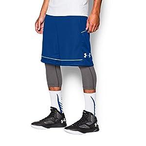 Under Armour Men's Baseline Basketball Shorts, Royal (400)/Steel, Medium