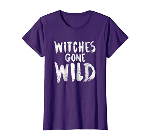 Womens Witches Gone Wild Halloween 2018 Costume Party T-Shirt XL Purple