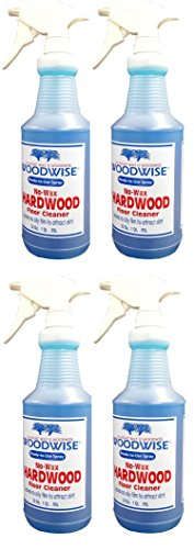 Woodwise Ready-to-Use No Wax Hardwood Floor Cleaner 32oz Spray Pack of 4