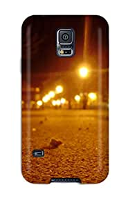 Rugged Skin Case Cover For Galaxy S5- Eco-friendly Packaging(bratislava In Night Hvizdoslavovo Namestie Nature Other)