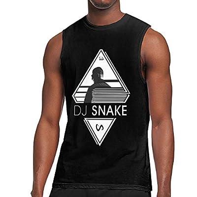Nanakang Dj Snake Logo Men Sleeveless Round Neck Summer Sport Tshirt Comfortable Black