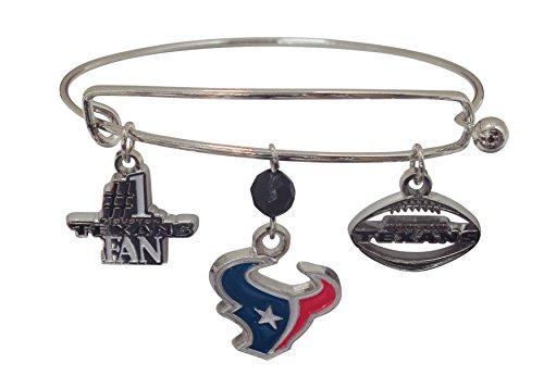 NFL Houston Texans Three Charm Logo Bracelet
