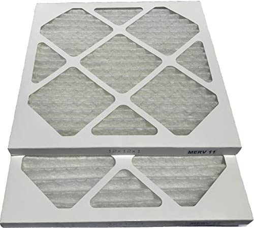 Filterene 12x12x1 Air Filter MERV 11 Allergen Control Pleated AC Furnace Air Filter, Pack of 2, USA Manufactured by Filterene (Image #2)