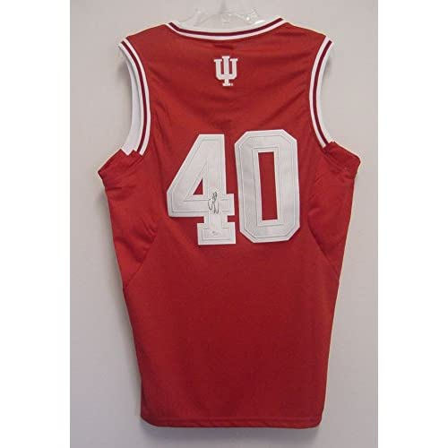 a0f1adee6a3 new Cody Zeller Indiana Hoosiers Autographed Red  40 Jersey JSA COA ...