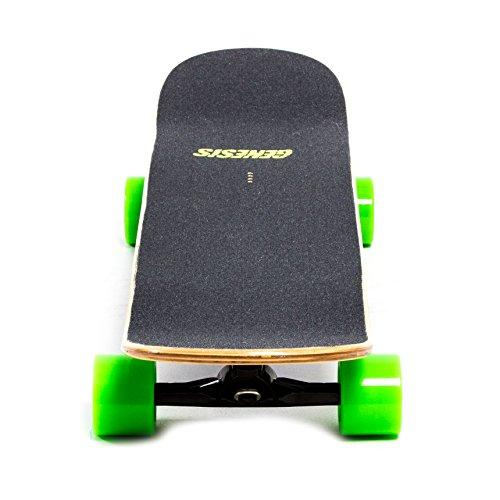 Genesis Stinger Electric Skateboard - Green Wheels