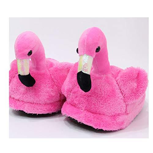 Rosa Neutro Animali A Rossa Casa Flamingo Pantofole Morbido Calde Swaq1WzF