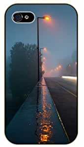 Diy For Ipod mini Case Cover idewalk rain, street lights - black plastic Nature, Animals, Places Series