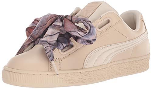 Cream Footwear Patent - PUMA Women's Basket Heart Patent Sneaker Vanilla Cream, 10.5 M US