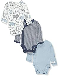 Baby Boys' 3-Pack Striped Side Snap Bodysuits