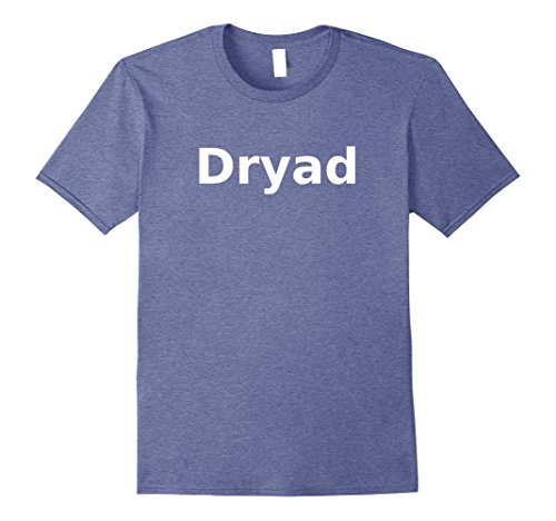 Dryad Costume (Mens Dryad T-Shirt. Board Game Role Playing LARP Halloween RPG Medium Heather Blue)
