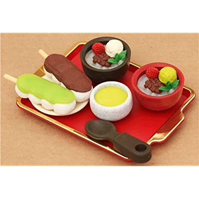 Anmitsu Shop dessert Iwako erasers set 7 pieces from Japan: Toys & Games