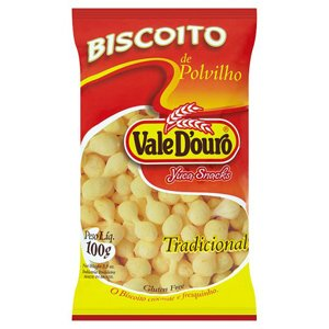 Vale D'ouro Starch Salted Cookies - 3.5oz - Biscoito de Polvilho Tradicional Vale D'ouro - 100g - (PACK OF 01) (Brazilian Cookies)