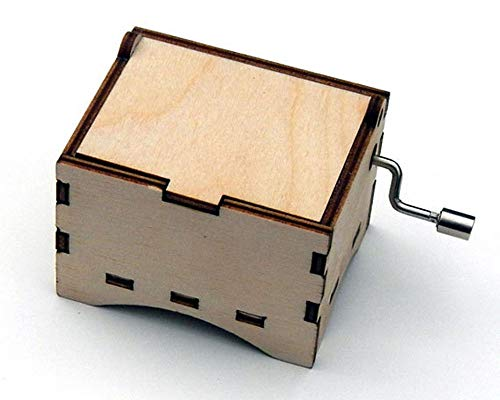 TheLaser'sEdge, Personalizable Blank Music Box, Birch Wood (Standard, Can't Help Falling in - Music Box Birch