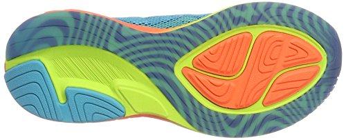 Asics T772n 3906, Zapatillas de Deporte para Mujer Varios colores (Aquarium /             Flash Coral /             Safety Yellow)