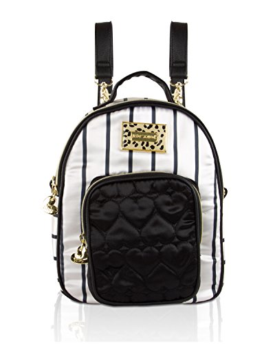 Betsey Johnson Satin Mini Convertible Crossbody Backpack - Stripe from Betsey Johnson