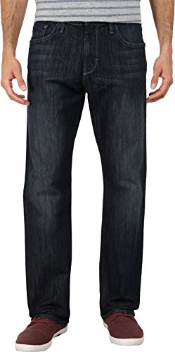 Mavi Jeans Men's Matt Mid Rise Relaxed Straight in Deep Stan