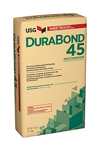 (USG Series 381110060 25Lb Bag Durabond 45 Min Joint Compound Powder, 25 lb, White)
