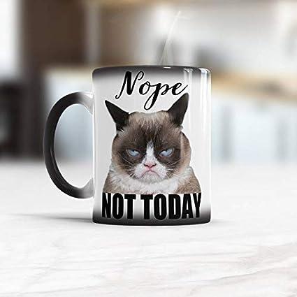 Amazoncom Nope Not Today Funny Coffee Mug Grumpy Cat Mug Funny