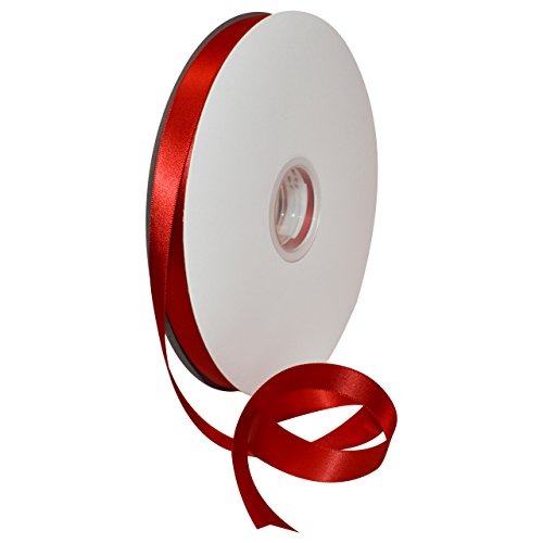 (Morex Ribbon 08816/00-250 Double Face Satin Polyester Ribbon, 5/8