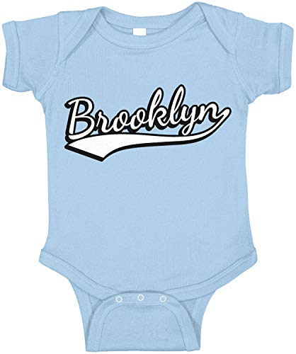 Amdesco Brooklyn, New York Infant Bodysuit, Light Blue 18 Month