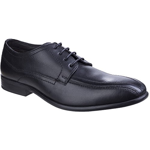 London Shoes Derby Leather Gilmore Waxy Black Formal Base Mens Sleek aqnHWOacd