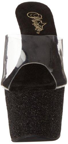 Pleaser Adore-701sdg - Sandalias Mujer Negro (Negro (Clr/Blk Gltr))