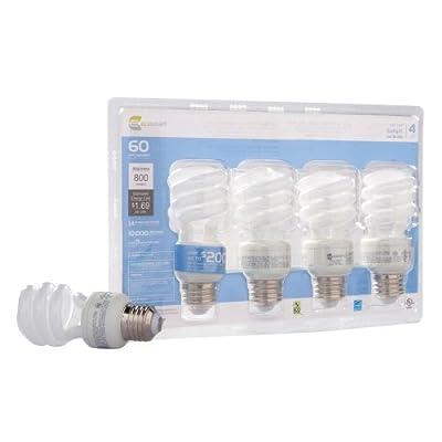 Ecosmart 14-Watt Daylight Compact Flourescent (CFL) Light Bulbs 4-Pack (equivalent to standard 60 watt bulbs)