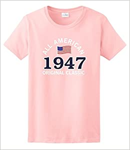 Amazon 70th Birthday Party Favors Gifts For All 1947 American Ladies T Shirt XL LtPnk Books