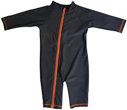 SwimZip¨ Little Boy Long Sleeve Sunsuit with UPF 50 Sun Protection
