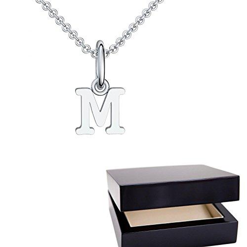 Buchstabenkette M Silber Buchstabenanhänger M - inkl. Luxusetui + - Namenskette Namensanhänger Buchstabe M Kette Buchstabe M Buchstabenanhänger Buchstaben Anhänger Silber FF116-12 SS92545