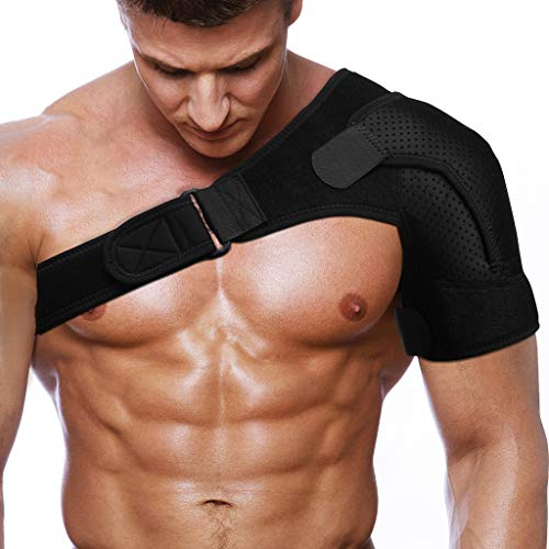(Rotator Cuff Brace for Women Men Shoulder Brace Support with Adjustable Belt and Sleeve, Pressure Pad for hot or ice Pack for Shoulder Impingement Syndrome, Tendonitis, Arthritis)