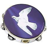 """Remo TA-9108-18 Praise Tambourine - Religious Dove, 8"""""""