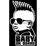 Punk Baby on Board Die Cut Vinyl Car Decal Wall Sticker