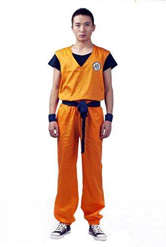 Mtxc Men's Dragon Ball Cosplay Costume Son Goku 2nd Ver XX-Size Small Orange -