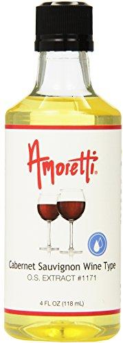 Amoretti Cabernet Sauvignon Wine Type Extract, 4 Fluid Ounce Cabernet Sauvignon Vanilla Wine