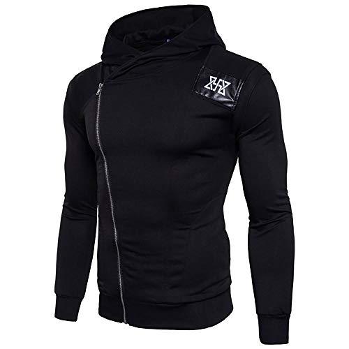 kaifongfu Men's Hooded Shirt,Sports Running Fitness Long-Sleeved Sweatshirts ()